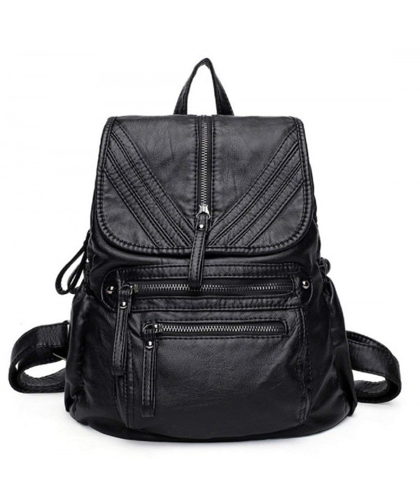 Coorisa Backpack Leather Backpacks Multi pockets