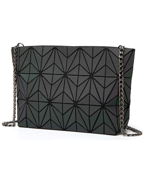 Geometric Luminous Holographic Reflective Cross Body