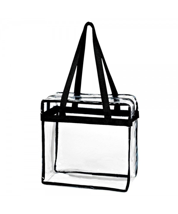Crystal Transparent Plastic Zippered Shoulder