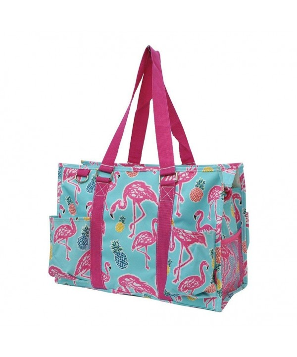 Tropical Flamingo Print Zippered Organizer
