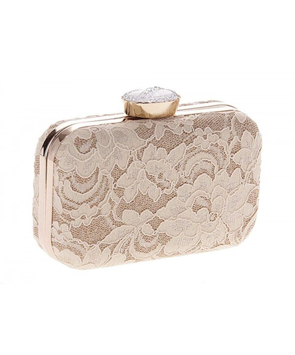 Vintage Floral Hardbox Evening Champagne