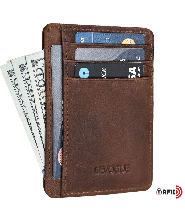 Pocket Handcrafted blocking Minimalist Leather