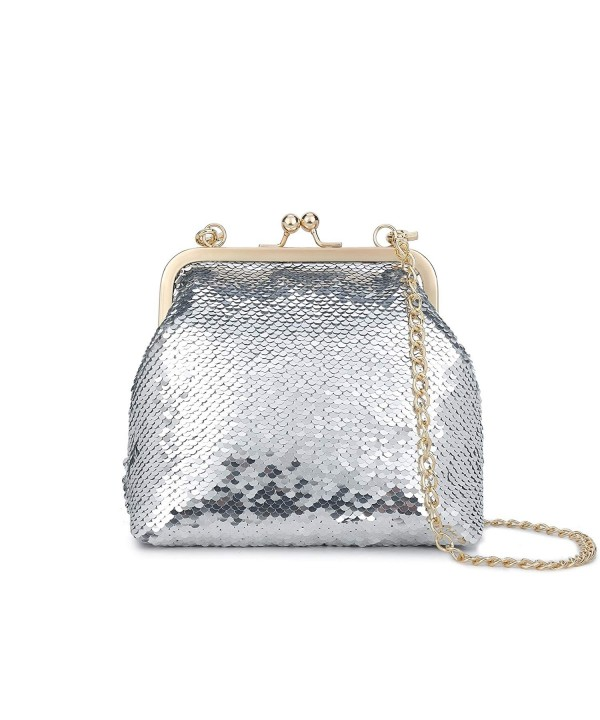 Gallery Sparkling Handbags Shoulder Bag Silver