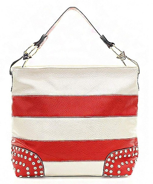 Handbag Republic Striped Rhinestone Accent