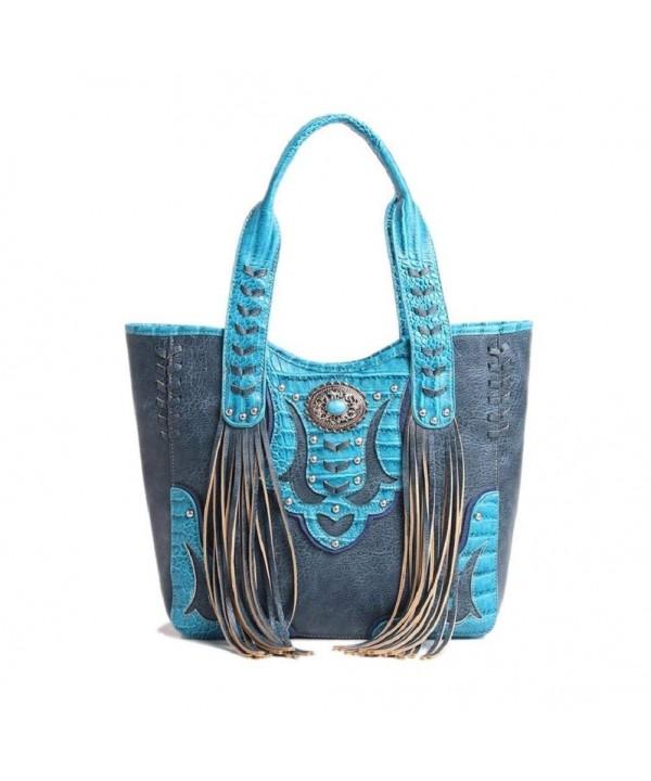 Cowgirl Trendy Western Handbag Turquoise