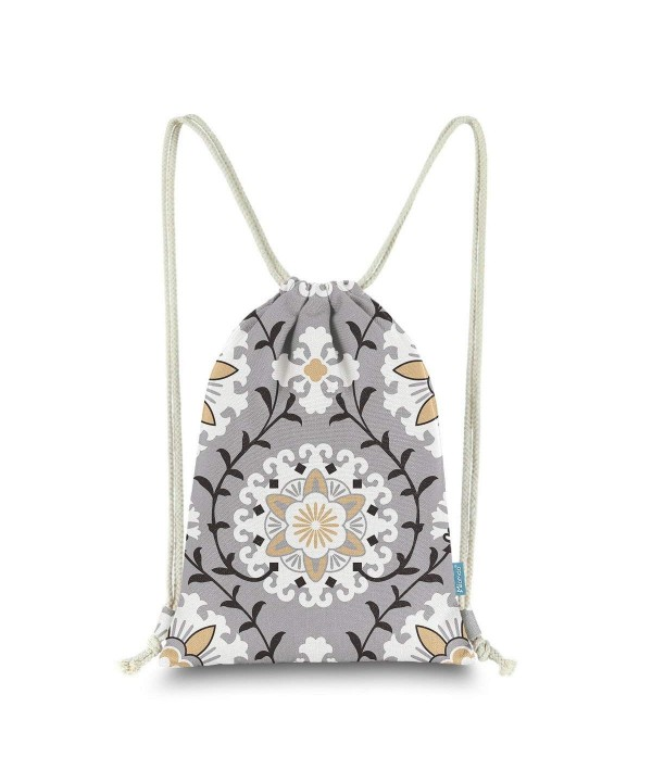 Miomao Drawstring Backpack Dahlia Floral