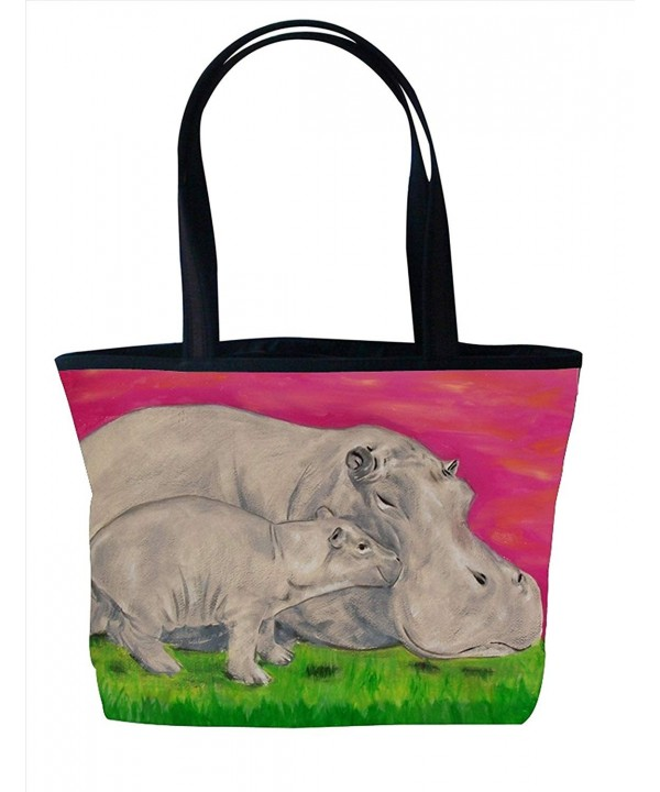 Animal Vegan Zipper Shoulder Tote