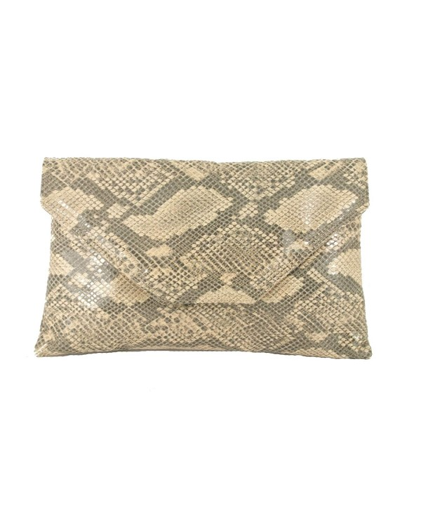 Womens Stylish Envelope Snakeskin Shoulder