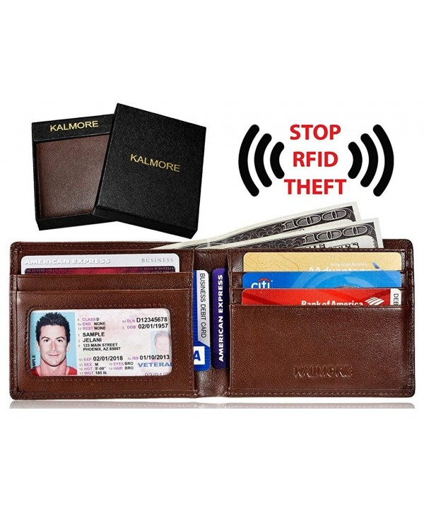 KALMORE Blocking Multi Card Genuine Leather