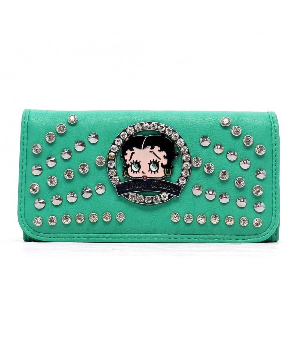 Betty Boop checkbook wallet Rhinestones