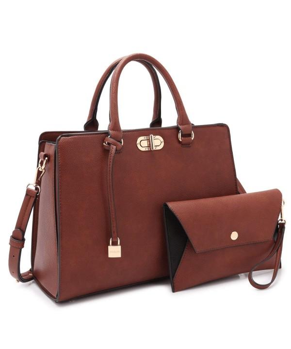 Dasein Designer Leather Satchel Shoulder