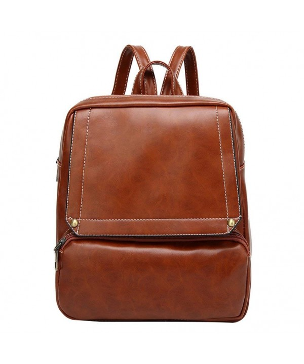 LIZHIGU Leather Backpack Satchel Shoulder