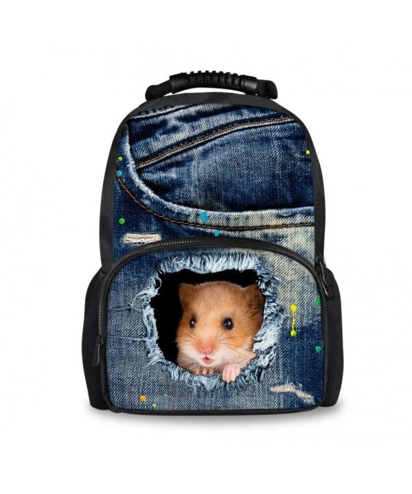 CHAQLIN Denim Backpack School Girls