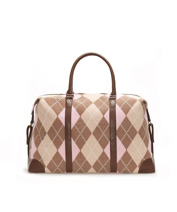 Lulu Dharma Argyle Duffle Bag
