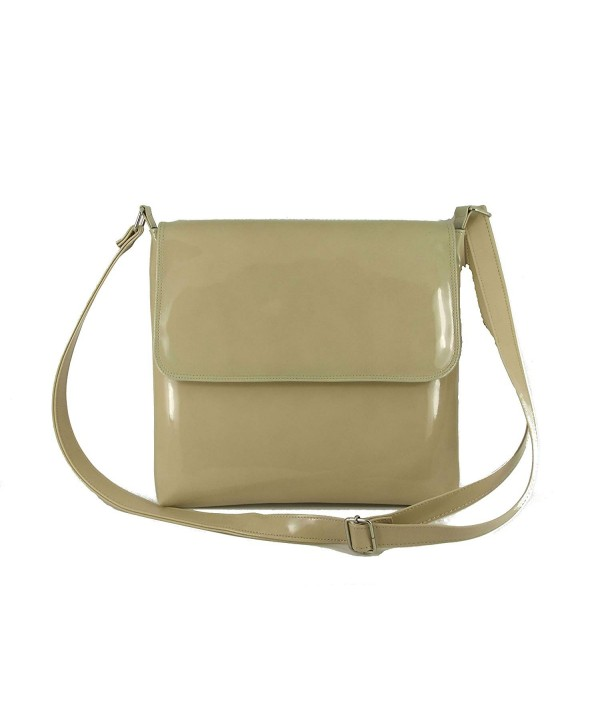 Patent Leather Cross Body Shoulder Handbag