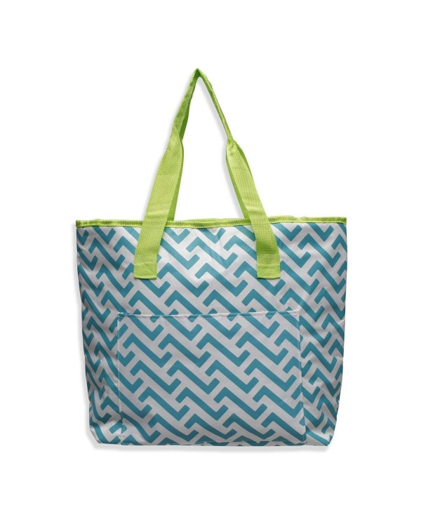 Beach Duffel Zipper Chevron Pattern