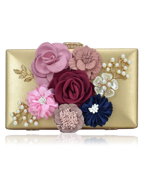 Women Flower Clutches Handbags Designer Evening Bags Prom Party ...