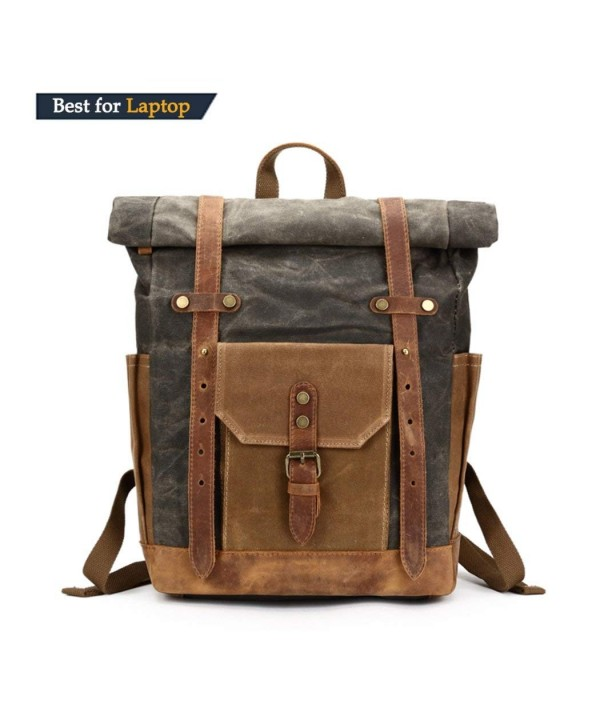 Vintage Leather Commuter Backpack weekend