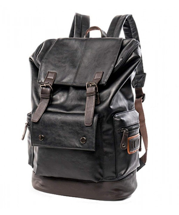 Vintage Leather Backpack College Computer