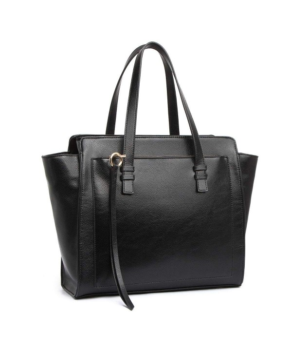 Structured Multi Compartment Handle Satchel