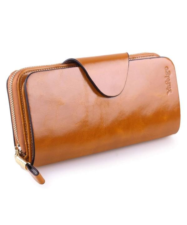 Yafeige Luxury Blocking Tri fold Leather