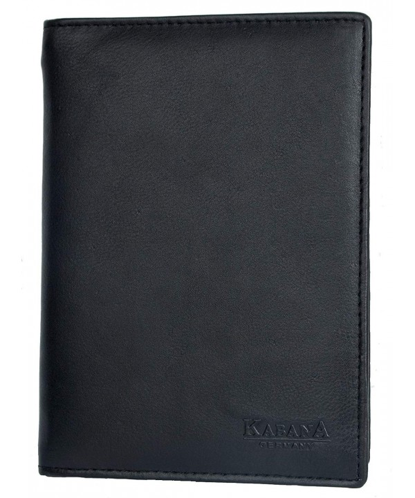 Black Genuine Leather Passport Holder