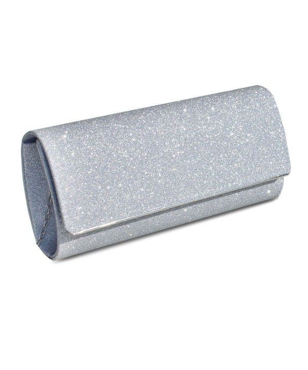 Womens Glitter Clutch Wedding Handbag