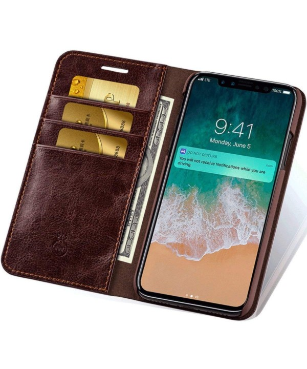 Leather Wallet Phone Cover Slots