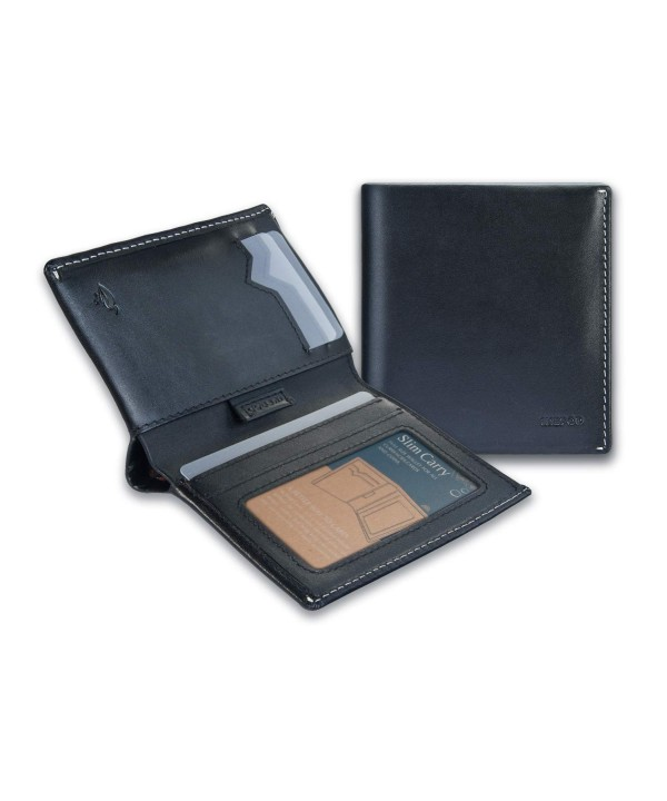 IKEPOD Bifold Wallet Leather Billfold
