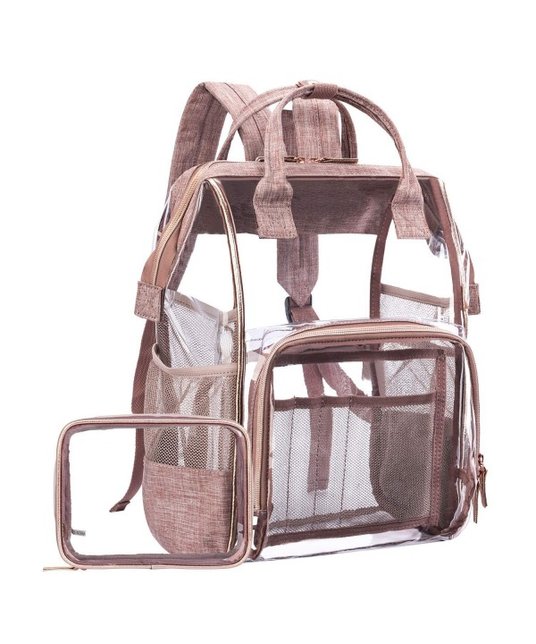 LOKASS Backpack Transparent Multi Pockets Backpacks Trim Adjustable