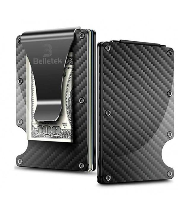 Belletek Carbon Minimalists Blocking Wallet Aluminum