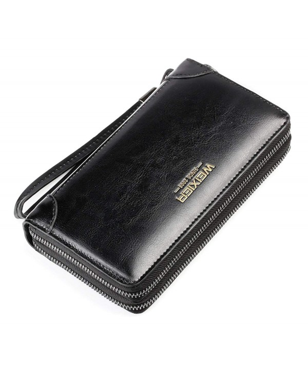 Wallet Leather Handbag Business Cowhide