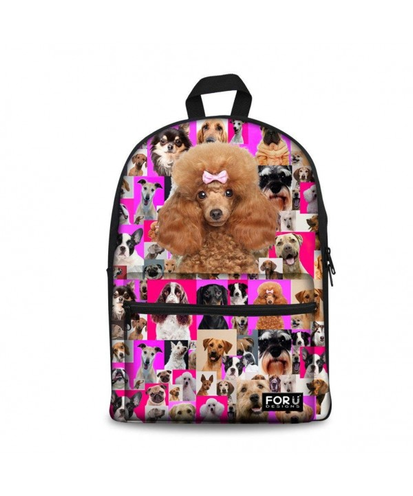 Bigcardesigns Poodle Canvas Backpack Women