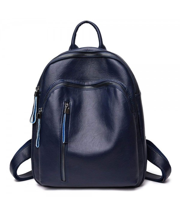 Tibes Casual Backpack Leather Daypack