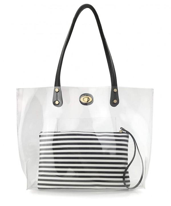 Striped Weekender Shoulder Handbag Stripes
