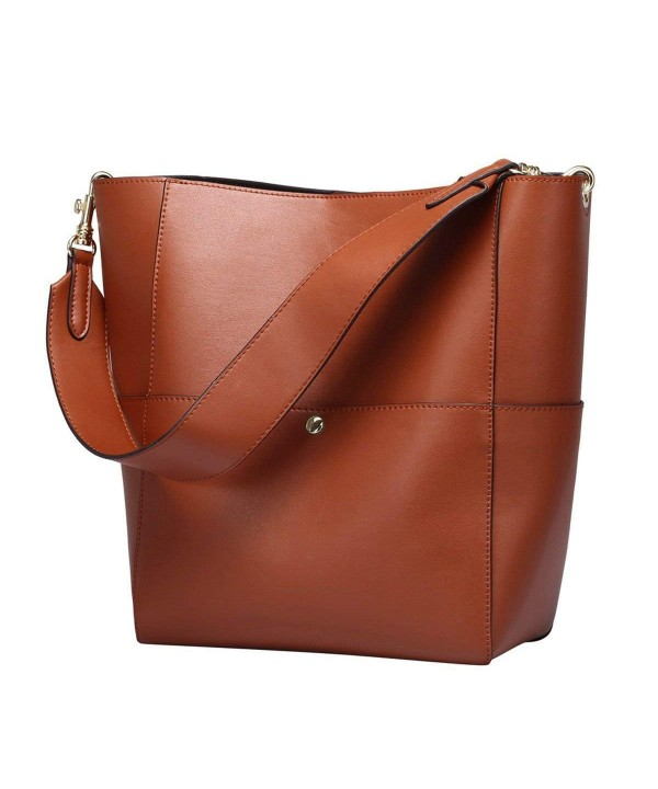 S ZONE Vintage Leather Shoulder Handbag