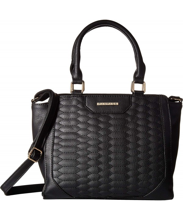 Rampage Womens Quilted Snake Satchel