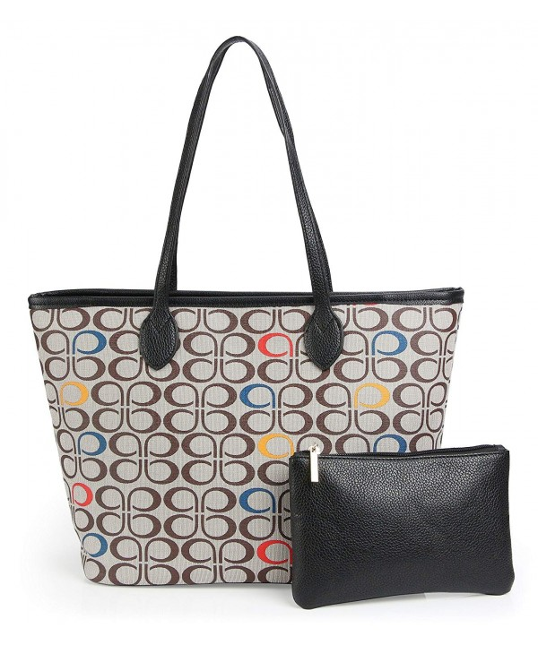 Handbags All over Printed Satchel Shoulder