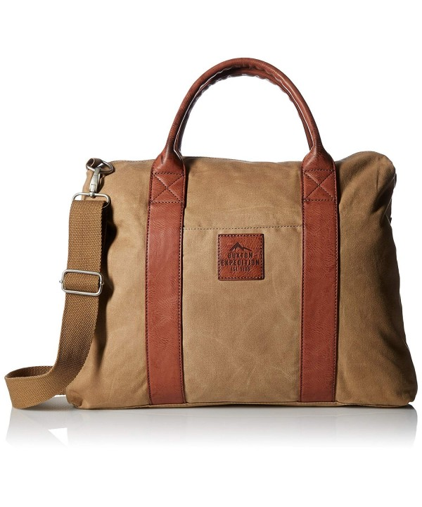 Buxton Expedition Huntington Canvas Briefcase