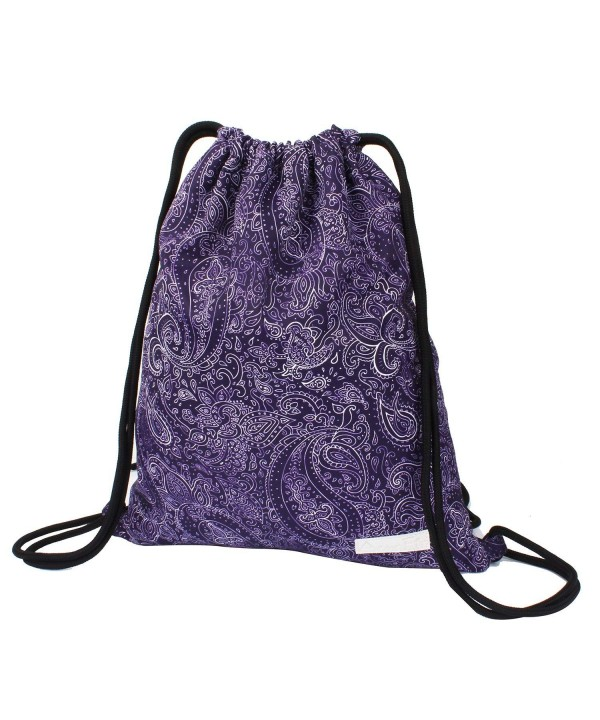 Drawstring Backpack Waterproof String Pockets