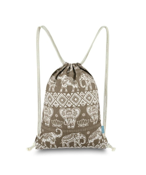 Miomao Sackpack Drawstring Backpack Geometric