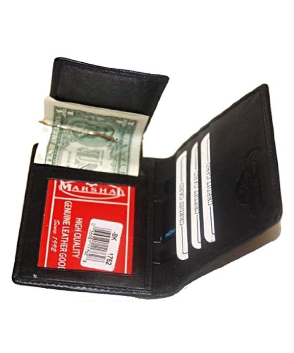Leather Bi fold Wallet Black 1762_BK