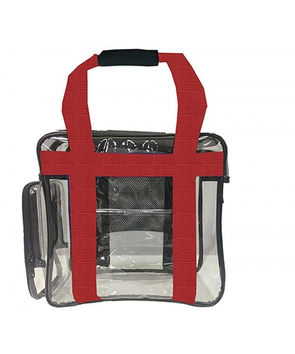 Stadium Bag Clear Tote Red