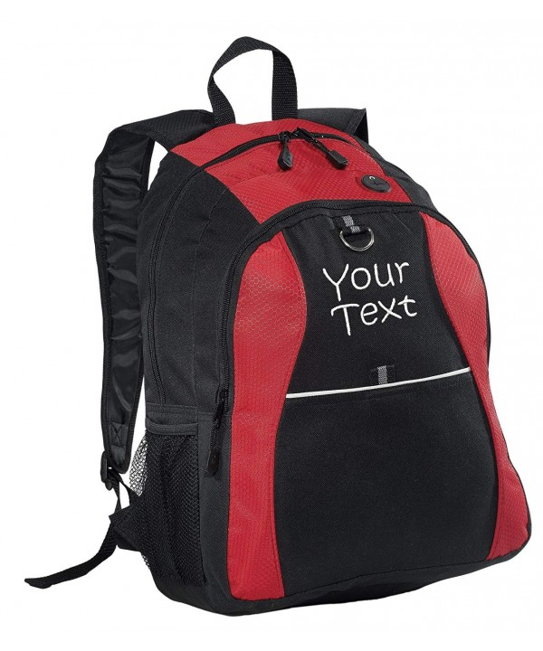 Personalized Contrast Backpack Lines Embroidery