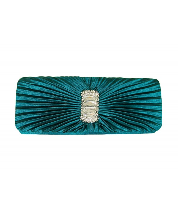 Turquoise Rhinestone Rectangle Evening Shoulder