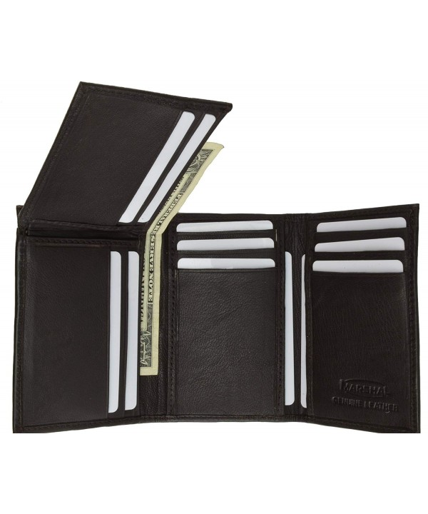 Flip Up Mens Wallet Holder Trifold