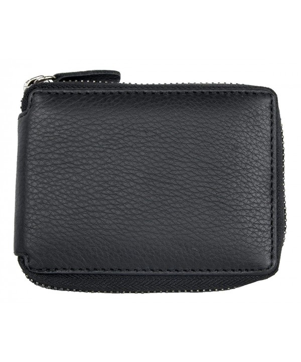 Protected Pocket Zip around Genuine Leather