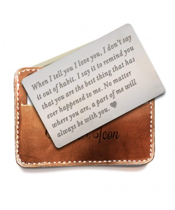 Personalized Metal Wallet Husband Anniversary