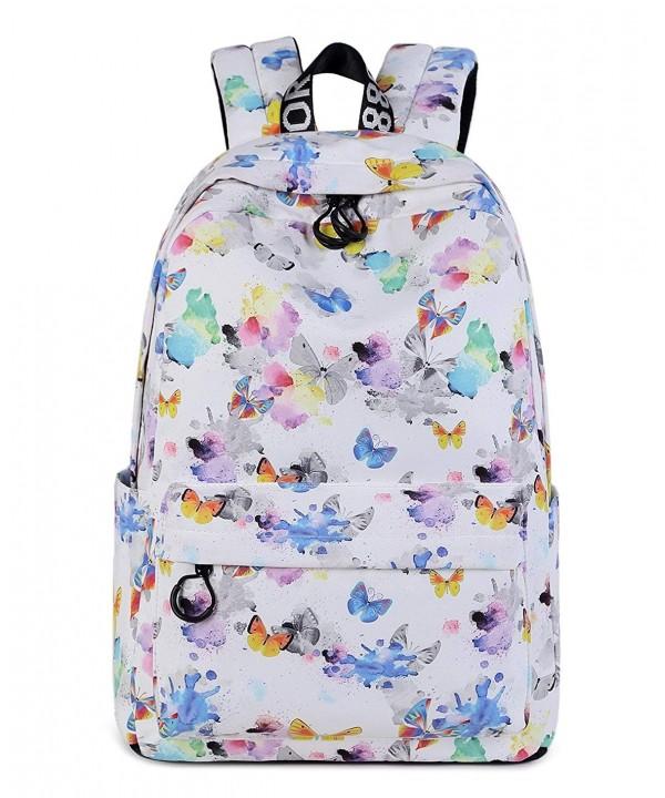 School Backpack Stripe Canvas Daypack
