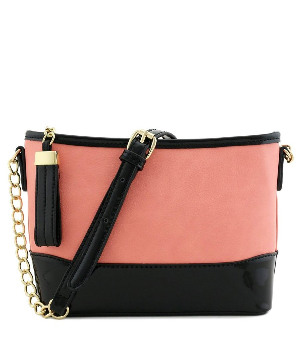 Chain Shoulder Patent Leather Contrast